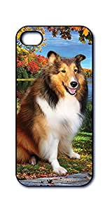 Dimension 9 3D Lenticular iPhone 5/5s Cell Phone Cover - Retail Packaging - Shetland Sheepdog, Pet Breed Series