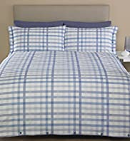 Checked Easycare Bedset