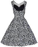 Lindy Bop 'Ophelia'Vintage 1950 er-Schaukel Monochrome Party Kleid