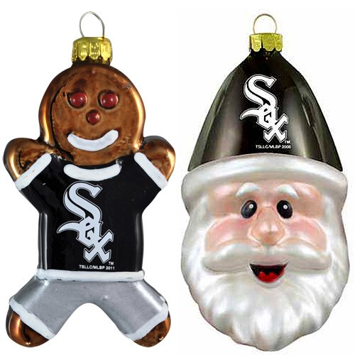 MLB Chicago White Sox Blown Glass Gingerbread Man & Santa Cap Ornament 2-Pack at Amazon.com