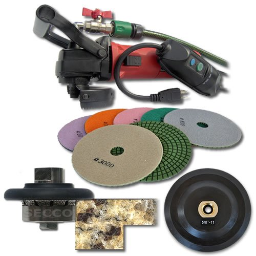 SECCO 316WVPOLSET 3/16-Inch Radius Wet Polisher Kit