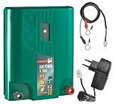 Elektrozaungerät 230 Volt oder Akku-Betrieb / Weidezaungerät Kombi-Netzgerät/Stromgerät für Elektrozaun 1 Joule inkl. Kabel