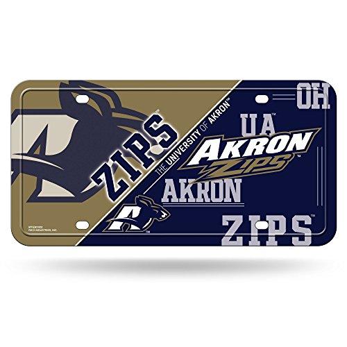 ncaa-akron-zips-metal-auto-tag