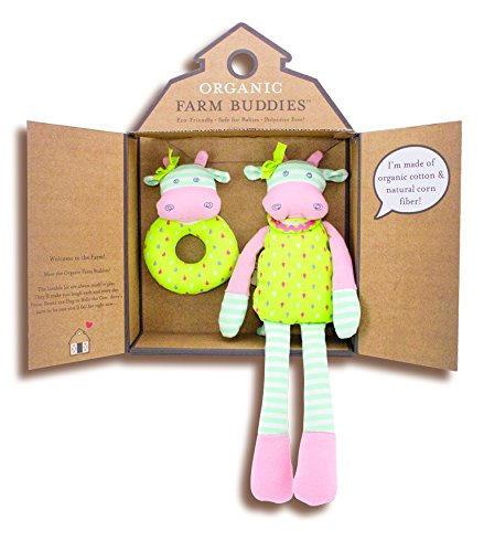 Organic Farm Buddies, Belle Cow Gift Set