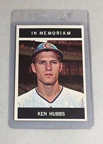 Cubs ken hubbs 1964 topps 550 in memoriam exmt for In memoriam cards template