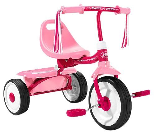 Radio Flyer Girls' Fold 2 Go Trike - 1