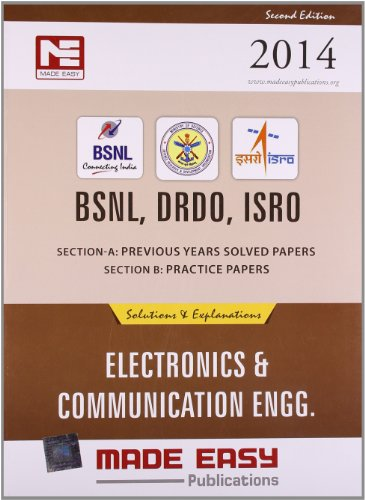 BSNL, DRDO, ISRO: Electronics and Communication Engineering Previous Year - Solved Papers and Practice Papers Image