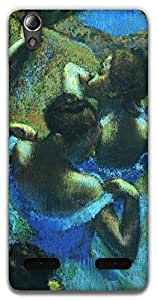 The Racoon Lean Dancers in Blue - Degas hard plastic printed back case / cover for Lenovo A6000