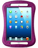 iXCC ® Shockproof Silicone Case Cover for All Apple iPad Mini Models, Extreme Heavy Duty [Drop Proof, Kids Proof, Shock Proof, Anti slip] High Quality Rubber Soft Gel Material Offers Robust Protection for Kids, Baby, Children, Boys and Girls [Purple/Maroon]