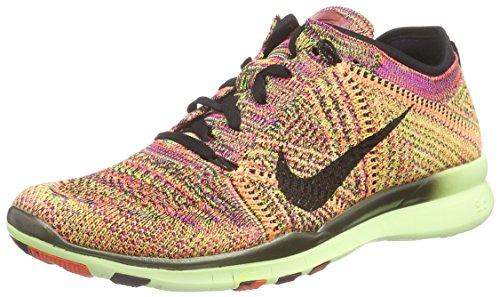 Nike Women's Free Tr Flyknit Hyper Orange/Black/Barely Volt Running Shoe 9 Women US