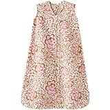 HALO SleepSack Micro Fleece Wearable Blanket, Leopard with Floral Print, Large