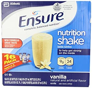 Ensure Bottles, Vanilla Shake , 8 oz Bottles, 16 Count