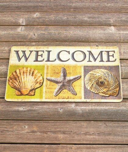 Seashells Starfish Beach Theme Wel e Door Mat Rug