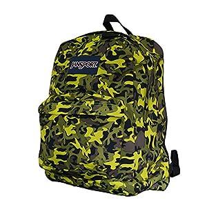 Jansport Classic Superbreak Backpack (Alien Green/Black/Leaf Camo)