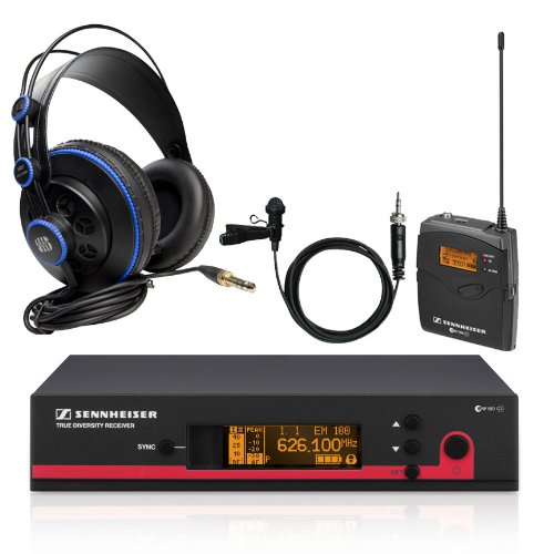 Sennheiser Ew112G3-A Wireless Lavalier Microphone System With Presonus Hd7 Studio Monitoring Headphones