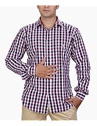 SPEAK Trendy Magenta Black Mid-checks Shirt