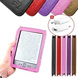 DURAGADGET Housse Etui Rose en Cuir Vritable pour Kindle 4 : liseuse sans fil, Wi-Fi intgr, cran 6 pouces (15cm), affichage encre lectronique E-Ink (dernire / nouvelle gnration, septembre 2011) - format livre + Chargeur Secteur Bonuspar Duragadget