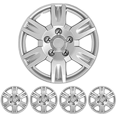"BDK Nissan Altima Hubcaps Wheel Cover, 17"" Silver Replica Cover, (4 Pieces)"