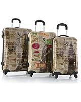 Heys Vintage 3 Piece Luggage Set Maps