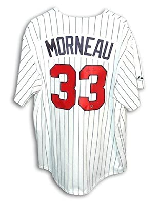 Autographed Justin Morneau Minnesota Twins White Pinstripe Majestic Jersey - Certified Authentic