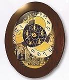 Grand Nostalgia Entertainer Clock in Brown Finish