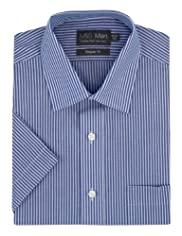 Cotton Rich Non-Iron Striped Shirt [T11-7389-S]