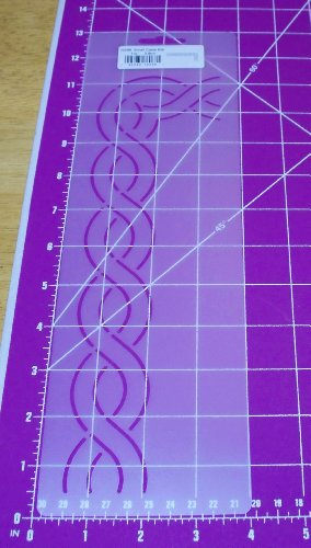 1.5 Small Cable Border Quilting Stencil