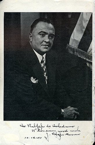 J Edgar Hoover Jsa Certified Signed 7X10 Photo Autograph Authentic front-590990