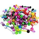 Piercing langue flexible flex perceur homme femme bijoux grossiste - lot de 10