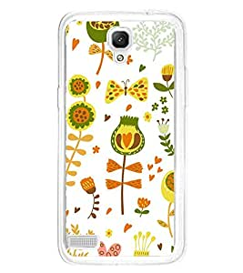 ifasho Animated Pattern colrful design cartoon flower with leaves Back Case Cover for Xiaomi Redmi Note 4G