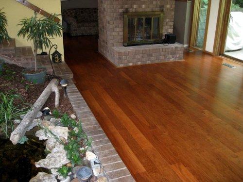 American Cherry Ideal Loc 5 Quot Plank Prefinished Engineered Floating Hardwood Wood Floor Flooring