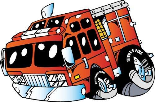 vehicle wall decals   cartoon