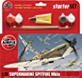 Airfix 1:72 Supermarine Spitfire Mkia Military Aircraft Gift Set