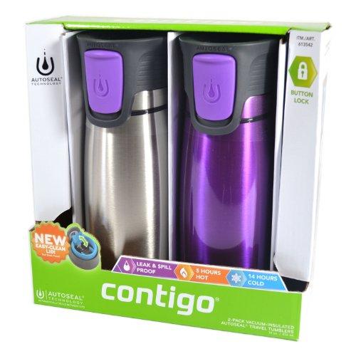 Contigo Astor 2-Pack 14Oz Vacuum-Insulated Autoseal Travel Tumblers (Purple) front-865103