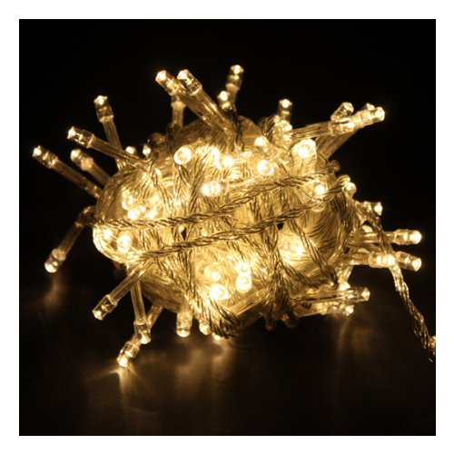 Toogoo(R) Warm White Led Fairy Light String Holiday Lights For Christmas Party (10M,100 Led)