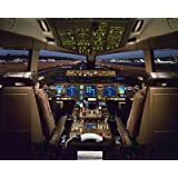 777 Flight Deck Matted Print