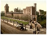 Cardiff Castle, from the southeast, Wales - 30 x 20cms Medium Metal Sign