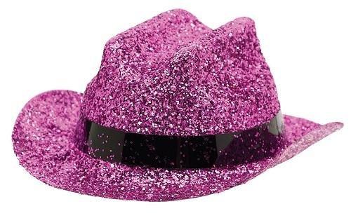 Pink Mini Glitter Hat