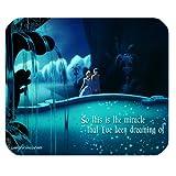 Mystic Zone Princess Cinderella Rectangle Mouse Pad (Black) - MZM00614