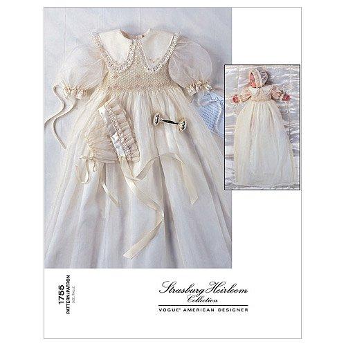 Vogue Patterns V1755 Infants' Dress and Bonnet, Size (L-XL)