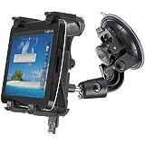yayago Universal Halter KFZ Halterung 360 grad drehbar für Ihr Samsung Galaxy Tab 7.7 LTE i815 / Apple iPad und für viele weitere Geräte, inkl. dem original yayago Clean-Pad