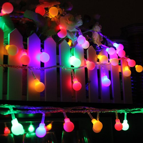 Innoo Tech Rgb 100 Led Globe Fairy Lights String Linkable For Indoor Outdoor Wedding Holiday Party Christmas Decoration