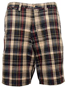Jack & Danny's Men's Check Summer Shorts Black Small