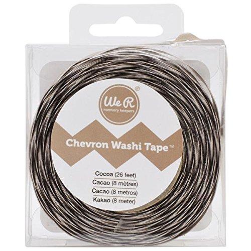 Cocoa Chevron Washi Tape - 1