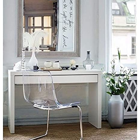 Modern Dressing Table With Drawer, White