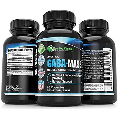 GABA Gamma Aminobutyric Acid GABA 900mg Per 2 Capsules 180 Capsules 2 Bottles