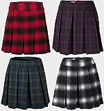 Ladies Papaya at Matalan Tartan Skirt Pleated Front Knee Length Size 8-20