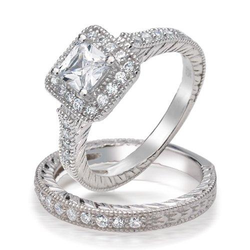 Bling Jewelry .925 Silver Princess Brilliant