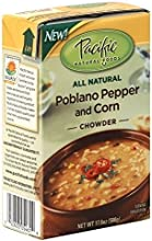 Pacific Natural Foods All Natural Poblano Pepper and Corn Chowder 176-Ounce Boxes Pack of 12  Value