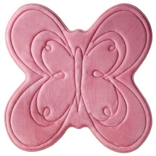 Circo Soft Pink Bugs & Butterflies Memory Foam Bathroom Rug 23